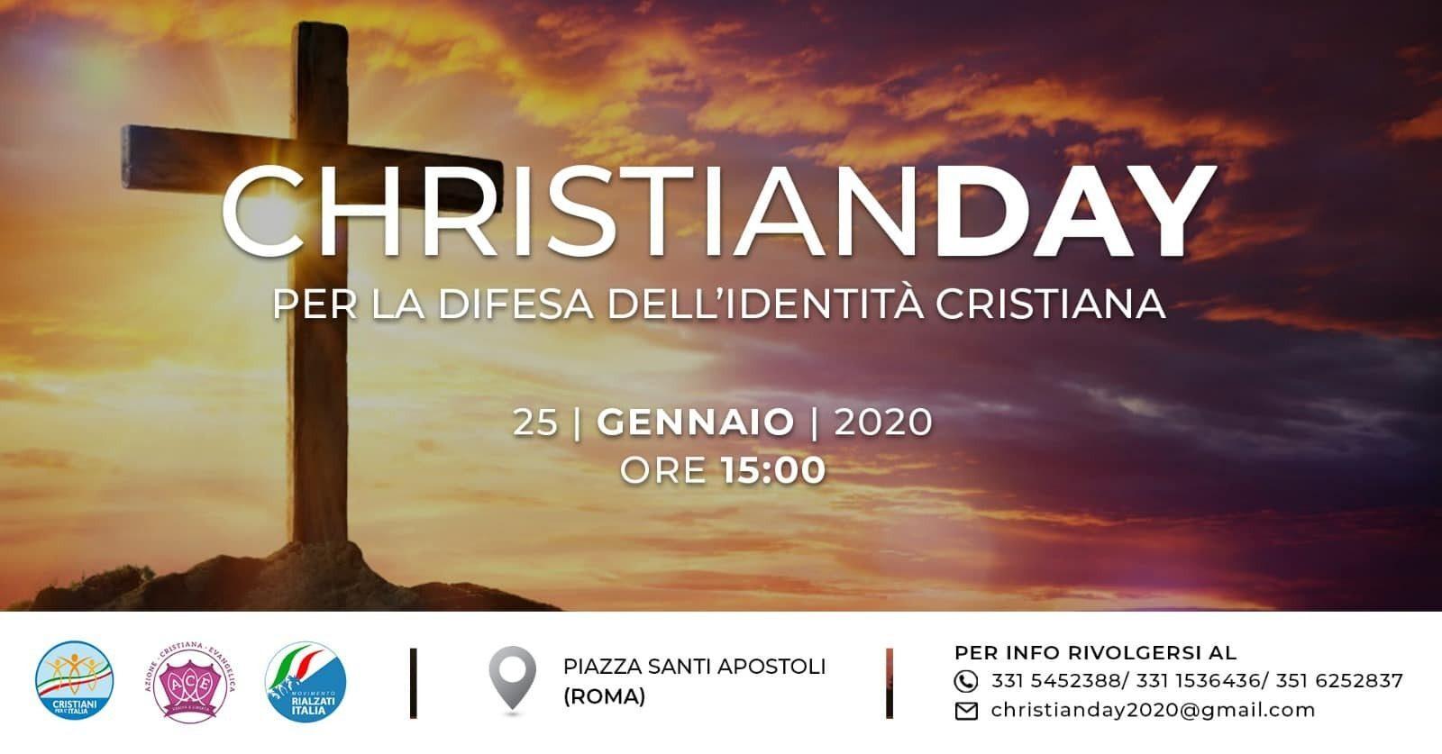 Il Cristianesimo è sotto attacco: a Roma il 25 gennaio il 'Christian Day'