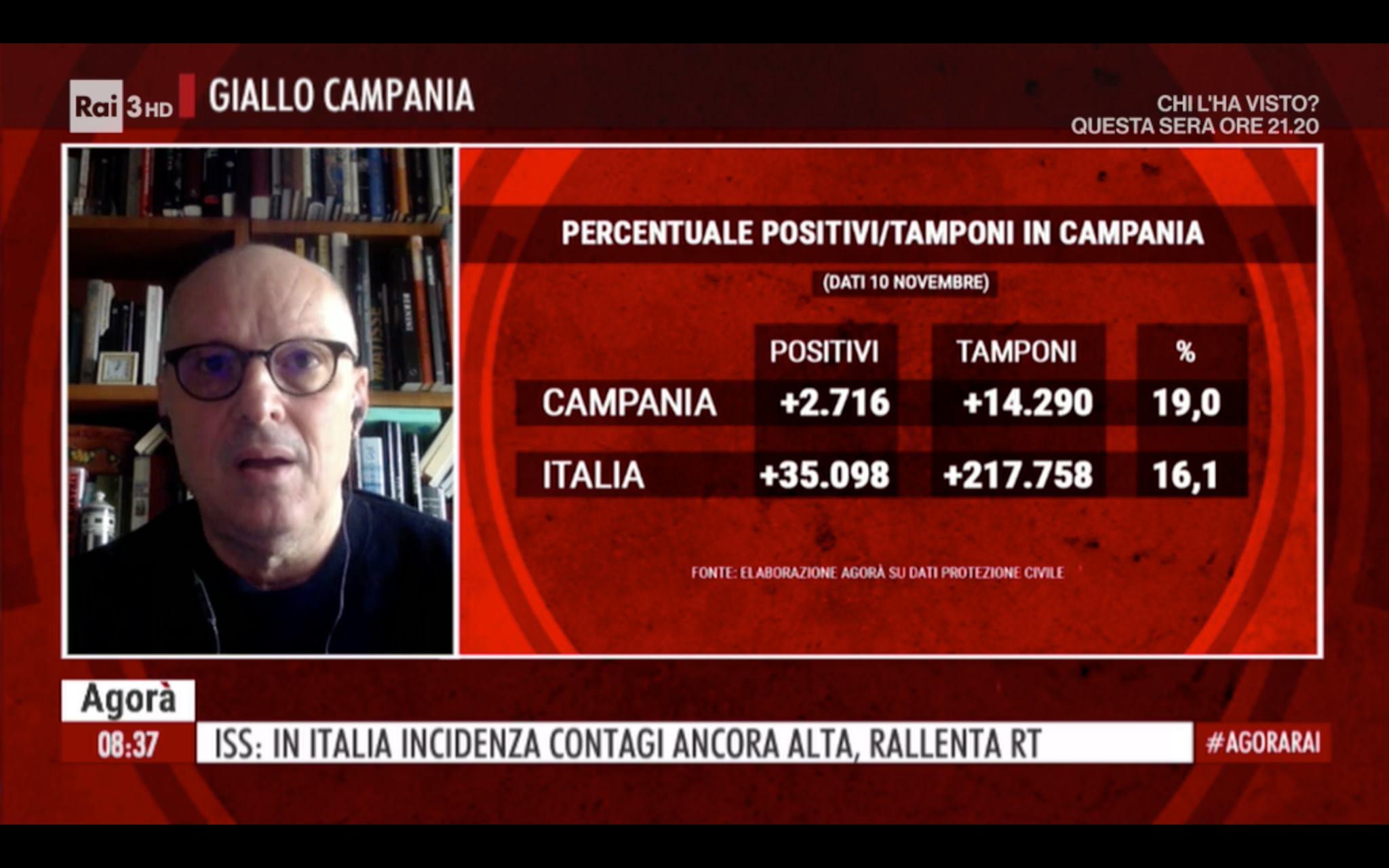 """Covid-19, Ricciardi: """"Le persone circolano troppo, si va verso lockdown"""""""